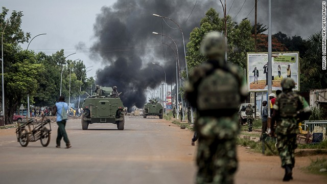 Protesters, peacekeepers clash in C.A.R.