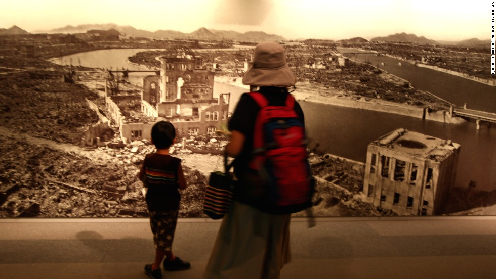 Visitors come to bear witness to preserved burnt wreckage, painful survivor testimonies and human shadows left permanently visible after the atomic bomb explosion's incandescent destruction.
