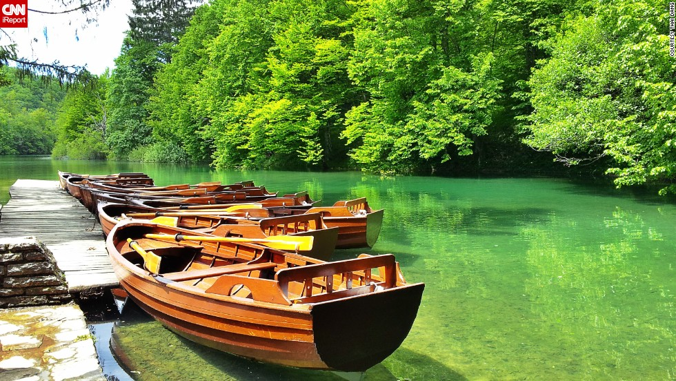 "Croatia's <a href=""http://www.np-plitvicka-jezera.hr/en/"" target=""_blank"">Plitvice Lakes National Park</a> is the oldest national park in Southeast Europe. <a href=""http://ireport.cnn.com/docs/DOC-1138339"">Thai Dang</a> says the UNESCO World Heritage Site is famous for its 16 lakes, which are arranged in cascades and are connected to each other. ""The color of the lakes change from azure to green or blue, depending on the sunlight, angle or the quantity of minerals and organisms,"" she says."