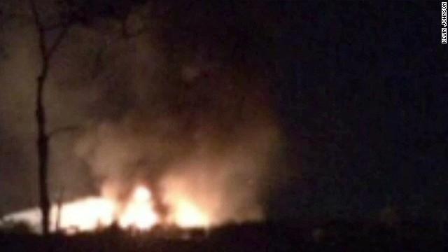 NTSB: Jet had post-crash fire