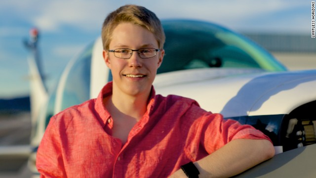 MIT freshman Matt Guthmiller hopes to be the youngest person ever to circumnavigate the globe on a solo flight.
