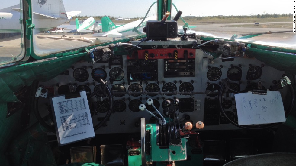 "One of Buffalo Airways' regular DC-3 routes travels across Canada's Northwest Territories between Yellowknife and Hay River. ""It's very comfortable,"" McBryan said. ""You're in your own nest. You have the ability to feel what the airplane's doing."""