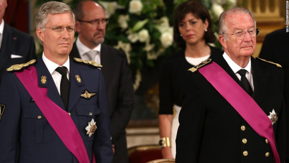 King Albert II of Belgium, right, abdicated the throne in July 2013. Taking his place was former Crown Prince Philippe, left.