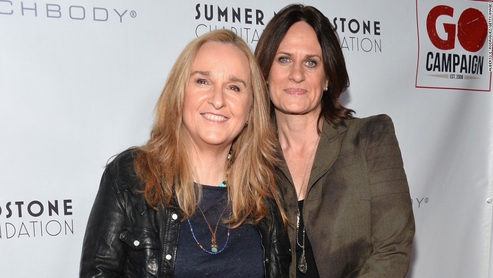 "Melissa Etheridge, left, and Linda Wallem married in May 2014 at San Ysidro Ranch in Montecito, California. The singer <a href=""https://twitter.com/metheridge/status/473112831898820609"" target=""_blank"">tweeted </a>""True love...so blessed. 'By the power invested in me by the state of California...' Thanks"" along with a wedding picture of her and Wallem, who is one of the creators of the Showtime series ""Nurse Jackie."""