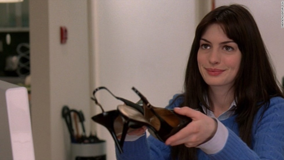 "Anne Hathaway has an understated look in the 2006 dramedy ""The Devil Wears Prada."" She has also transformed her look in ""The Princess Diaries"" and ""Les Miserables."""