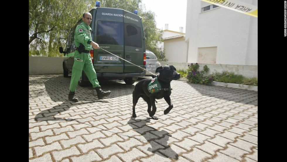 Portuguese police search for Madeleine in May 2007.