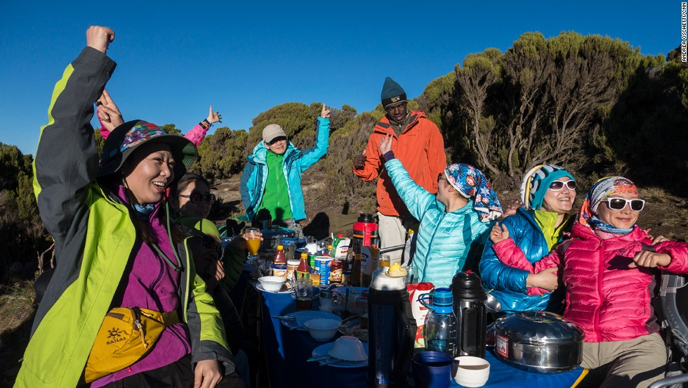 Each year, some 40,000 people attempt to climb Kilimanjaro.