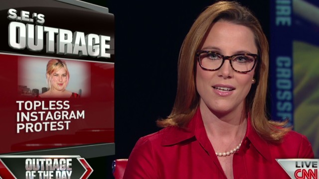 Cupp outraged: Topless Instagram protest?