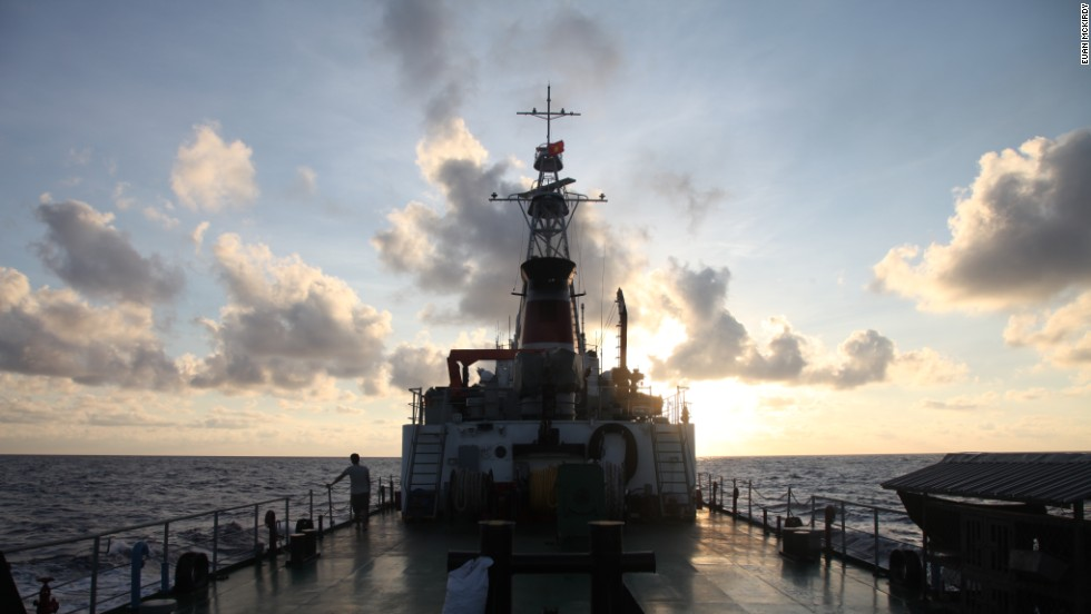 Vietnam Coast Guard CG8003 sails into the sunset.