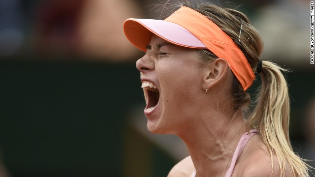 Maria Sharapova was forced to dig deep to see off Garbine Muguruza 1-6 7-5 6-1.