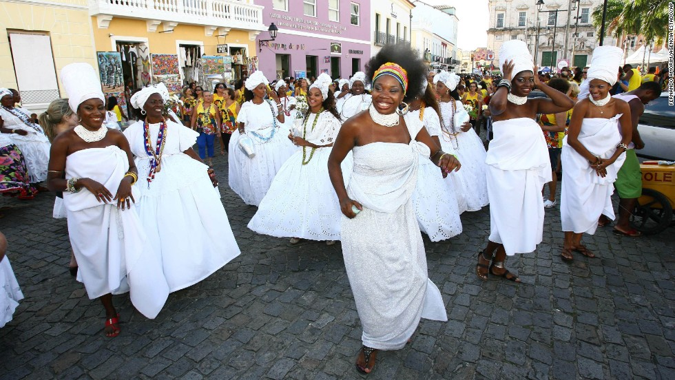"Cultural Wash is an annual festival promoted by public employees in Salvador. The region's famed beats propel many such processions. The city has been referred to as ""Brazil's capital of happiness."""