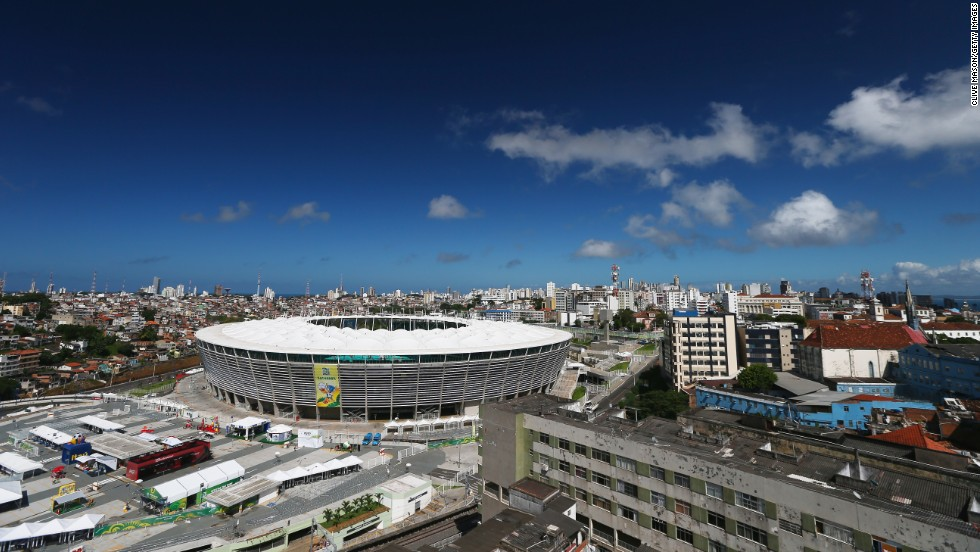 FIFA Confederations Cup Brazil 2013 matches were held at the new, purpose-built, 51,708-capacity Estadio Octavio Mangabeira.