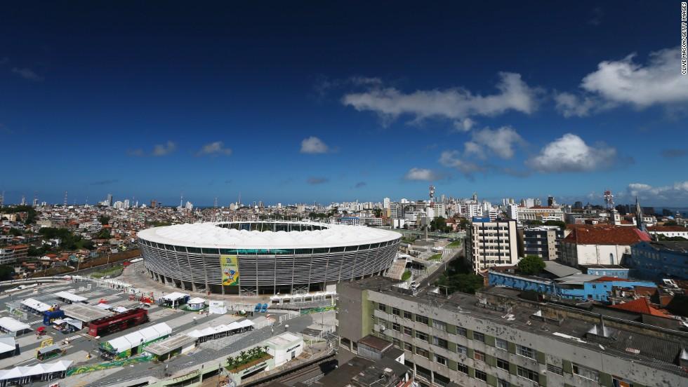 FIFA Confederations Cup Brazil 2013 matches were held at the new, purpose-built, 51,708-capacity Estadio Octavio Mangabeira.