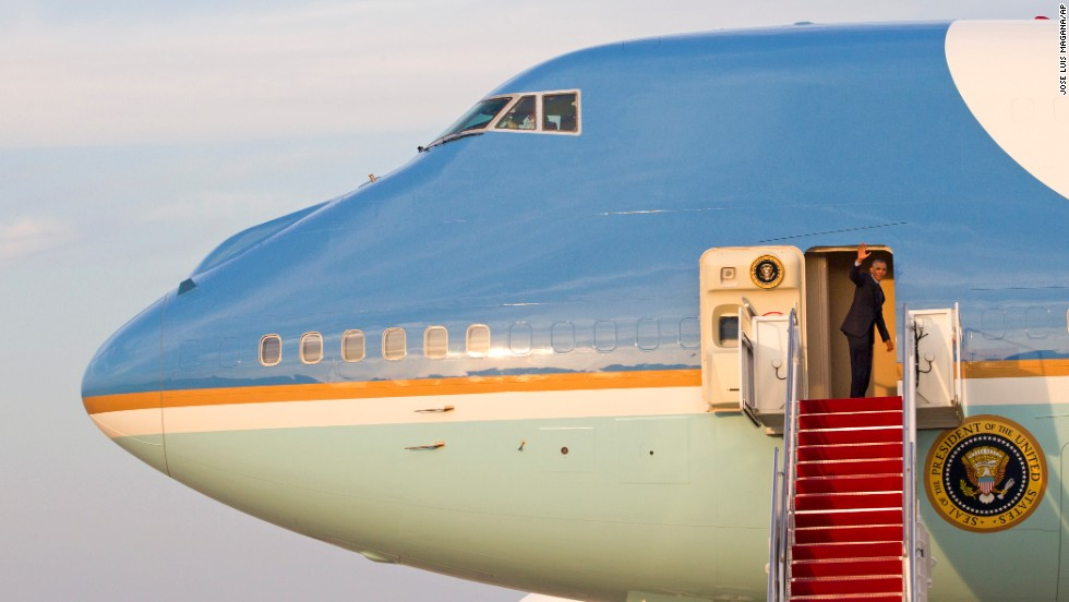 Obama waves from Air Force One before departing from Joint Base Andrews in Maryland on Monday, June 2. It's Obama's third foreign trip in as many months, and it caps a period of heavy foreign-policy focus for the President.
