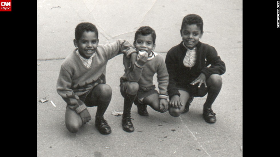 Burns, left, in 1964 with two of his brothers.