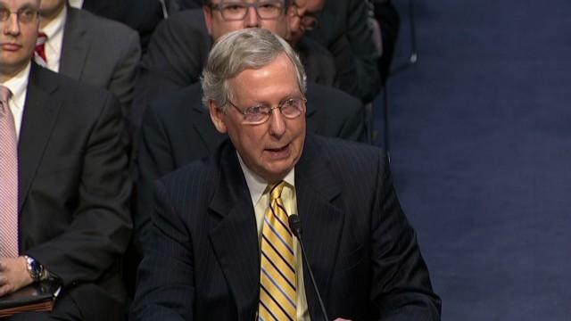 Reid, McConnell debate campaign financing