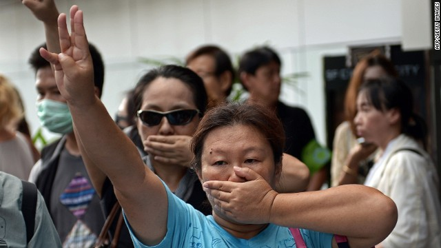 Thai protesters reference 'Hunger Games'