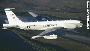 "An RC-135U Combat Sent, similar to this one, was intercepted in an ""unsafe and unprofessional manner"" earlier this week, the Pentagon says. The RC-35U provides strategic electronic reconnaissance information to the president, secretary of defense, Department of Defense leaders and theater commanders, according to the Air Force. Click through the gallery to see other U.S. and Russian planes."