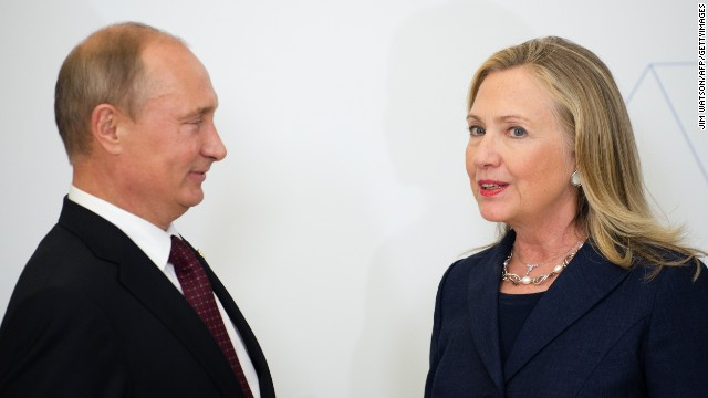 Clinton: Putin and I disagree, publicly