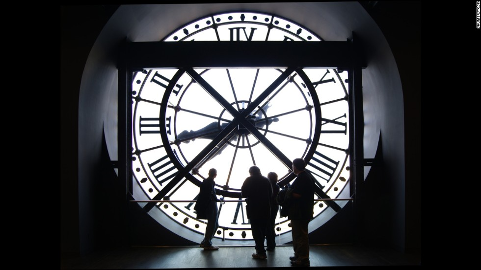 The Musee d'Orsay in Paris draws visitors for its expansive collection of art created between 1848 and 1914. The museum is housed in a former railway station adorned with a giant clock. About 3.5 million people visited in 2013.