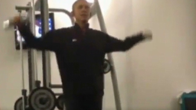Trainer: I worked out with the President