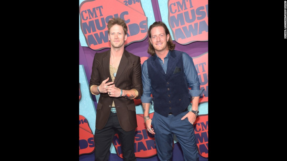 Brian Kelley, left, and Tyler Hubbard of Florida Georgia Line