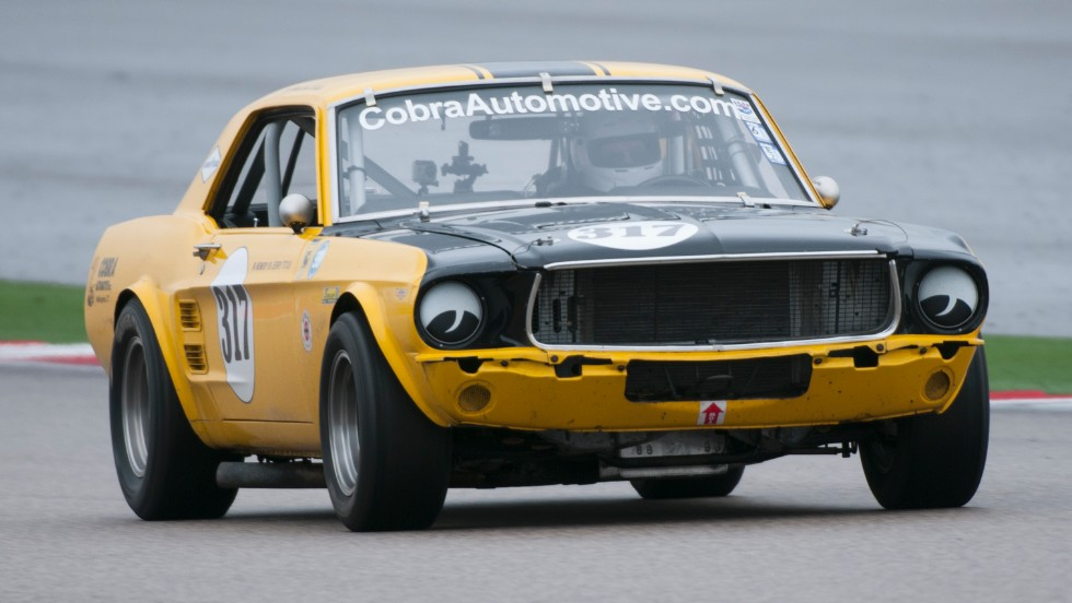 Here's a 1967 Mustang from the classic Trans-Am era owned by Scott Hackenson. Hackenson will drive the car in the invitational with IndyCar race winner Mark Dismore.
