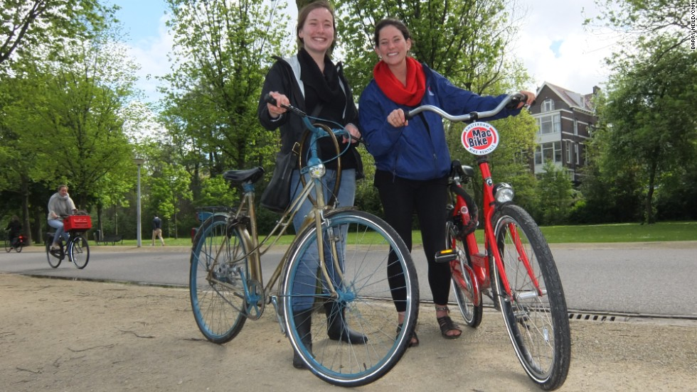 "Samantha Shaffer (left) says giving a bike a name helps the rider ""become one"" with their steed."