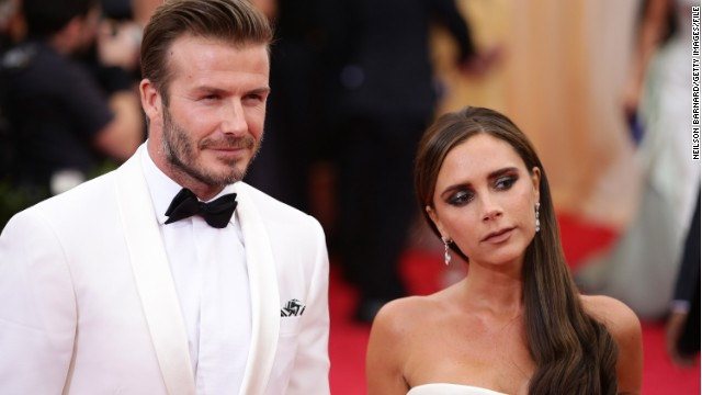Caption:NEW YORK, NY - MAY 05: David Beckham and Victoria Beckham attend the 'Charles James: Beyond Fashion' Costume Institute Gala at the Metropolitan Museum of Art on May 5, 2014 in New York City. (Photo by Neilson Barnard/Getty Images)