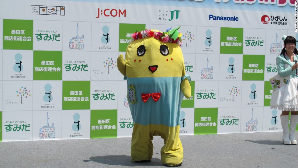 Funassyi, the self-made rock star of a mascot that captured the heart of an entire nation waves to his adoring fans at a festival in Tokyo in May.