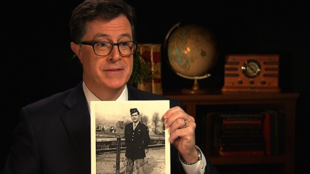 Comedian Stephen Colbert tells the story of his uncle, 1st Lt. Andrew Edward Tuck III, who served in WWII, and dropped behind enemy lines on D-Day.