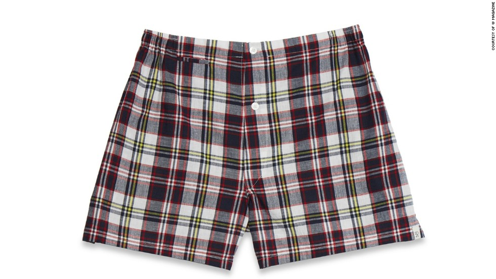 "At the lake, a pair of madras shorts practically qualifies as formal. Sleepy Jones Jasper tailored boxers, <a href=""sleepyjones.com"" target=""_blank"">sleepyjones.com</a>."