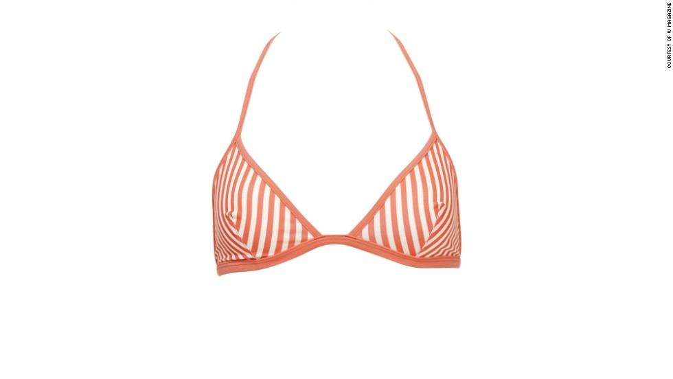 "A sporty striped bikini looks at home anywhere. Solid and Striped Miranda top and bottom, <a href=""solidandstriped.com"" target=""_blank"">solidandstriped.com</a>"