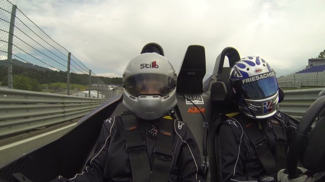 CNN reporter takes on the Red Bull Ring