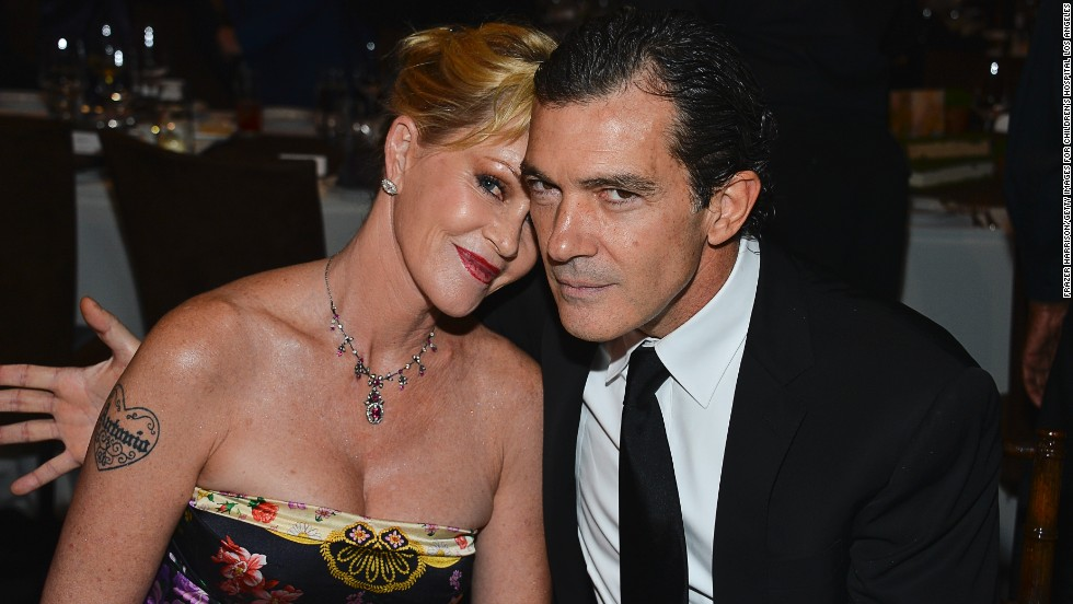 "Melanie Griffith and Antonio Banderas ""thoughtfully and consensually"" brought an end to their 20-year marriage in June 2013. The two actors released a statement announcing their breakup after <a href=""http://www.tmz.com/2014/06/06/melanie-griffith-antonio-banderas-divorce/"" target=""_blank"">reports indicated Griffith had filed for a divorce.</a>"