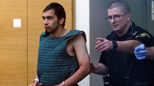 Shooting suspect Aaron Ybarra, left,  is being held without bail in connection with the shooting.