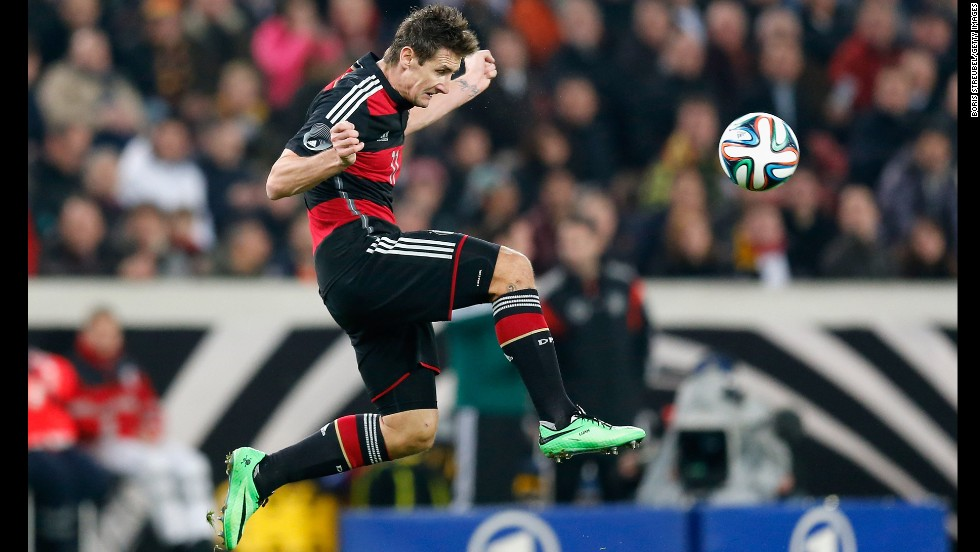 <strong>Miroslav Klose (Germany):</strong> With his nose for goal and a knack for nodding headers home, Klose will be on defenders' minds. His 36th birthday falling days before the Cup, the elder statesman has 14 World Cup goals, one shy of Ronaldo (no, not that Ronaldo -- Brazil's Ronaldo, the one who actually has scored proficiently in World Cups). After breaking Gerd Muller's German scoring record, Klose will look to add the World Cup scoring record to his list of accolades.