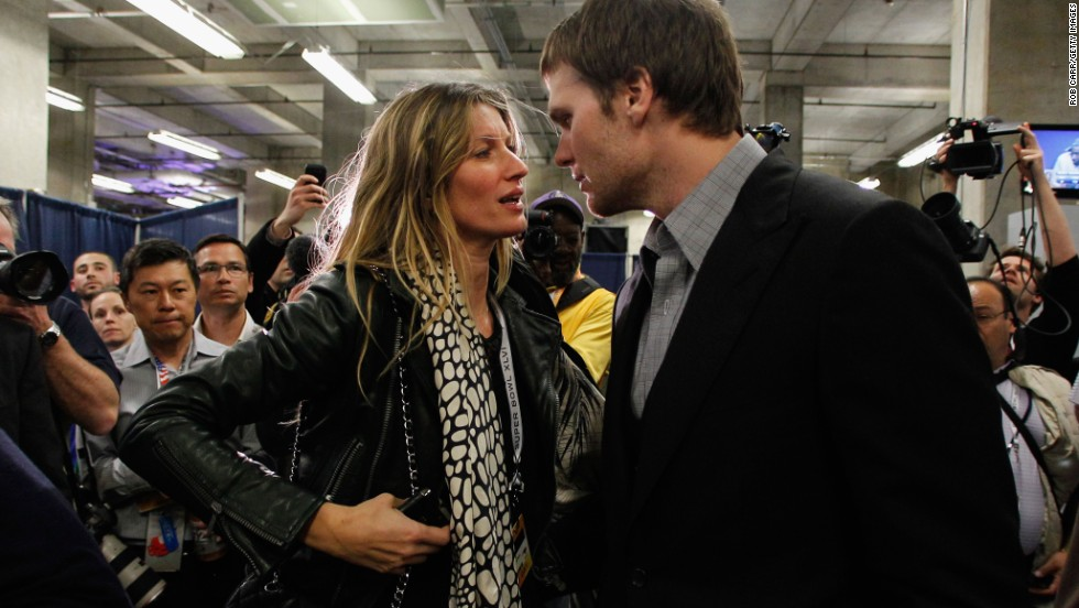 "<strong>Gisele Bundchen:</strong> For such a pretty woman, she used some ugly language after her husband, Tom Brady, and his New England Patriots fell to the New York Giants in the 2012 Super Bowl. Caught on camera while she waited on an elevator after the game, the Brazilian supermodel and U.N. goodwill ambassador said, ""My husband cannot (expletive) throw the ball and catch the ball at the same time."""