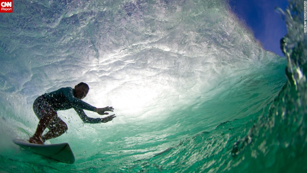 "<a href=""http://ireport.cnn.com/docs/DOC-1141939"">Trevor Murphy </a>captured this photo of international surfing champion Mega Semadhi catching a wave at Padang Padang Beach in Bali, Indonesia. ""The hardest thing about water photography is the preparation and timing ... there is no room for error,"" he said."