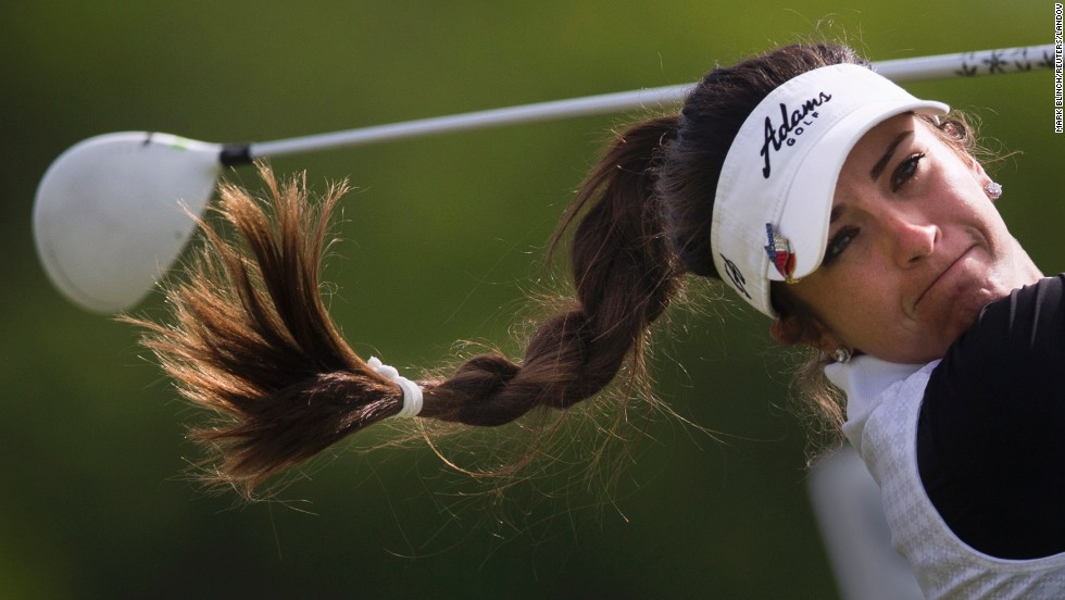Gerina Piller tees off during the second round of the Manulife Financial LPGA Classic, which took place Friday, June 6, in Waterloo, Ontario. Piller finished tied for 35th in the tournament, which was won by Inbee Park.