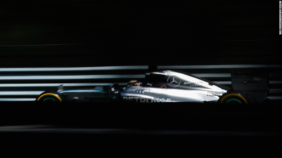 Formula One driver Lewis Hamilton races in the Canadian Grand Prix on Sunday, June 8. He didn't finish the event, but with four wins on the season he sits second in the overall standings.