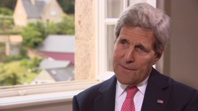 John Kerry talks exclusively with CNN