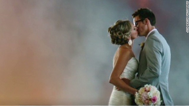 The most dramatic wedding photo -- ever