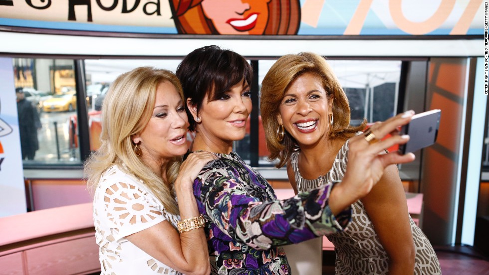 "Television personality Kris Jenner, center, appeared on NBC's ""Today"" show on Thursday, June 5, and took a photo with hosts Kathie Lee Gifford, left, and Hoda Kotb."