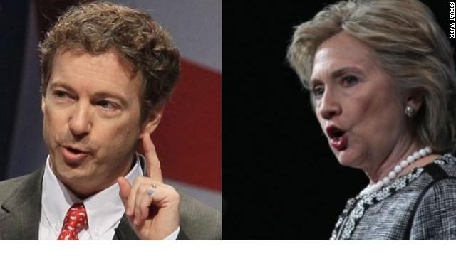 Rand Paul lanza un sitio web en contra de Hillary Clinton