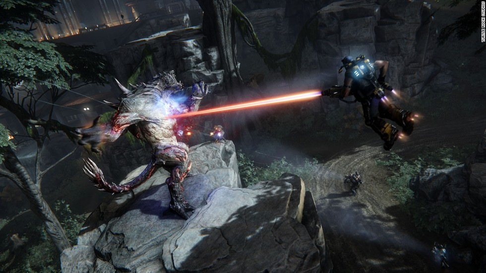 "The twist in multiplayer ""Evolve"" is that another player is controlling the boss monsters, which ""evolve"" into stronger foes as the game goes on."