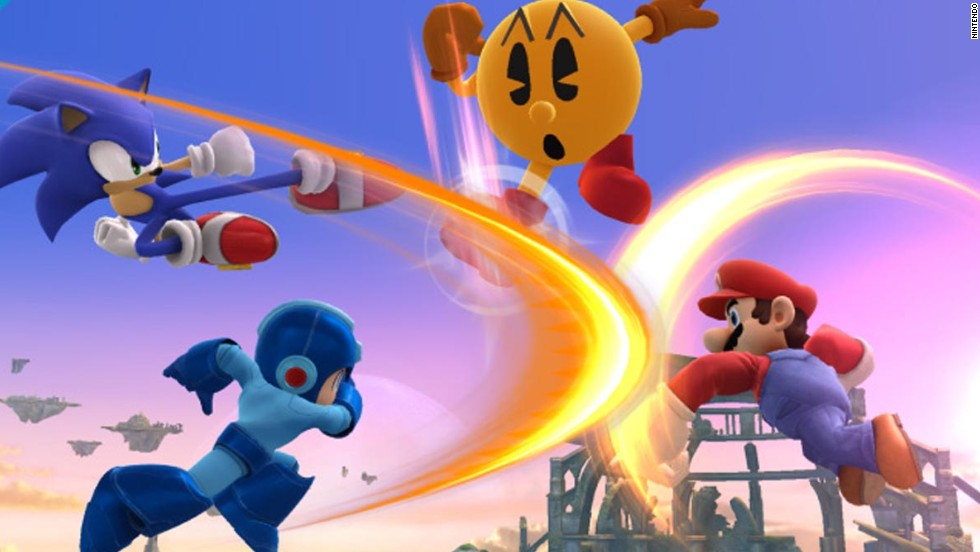 "Arcade icon Pac-Man joins the cast in ""Super Smash Bros.,"" Nintendo's fighting game that already features classic characters such as Mario and Sonic."