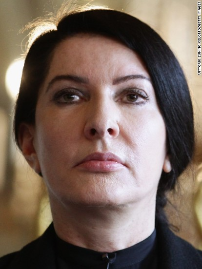 :MILAN, ITALY - MARCH 19: Marina Abramovic attends 'The Abramovic Method' press conference at Villa Reale on March 19, 2012 in Milan, Italy. (Photo by Vittorio Zunino Celotto/Getty Images)