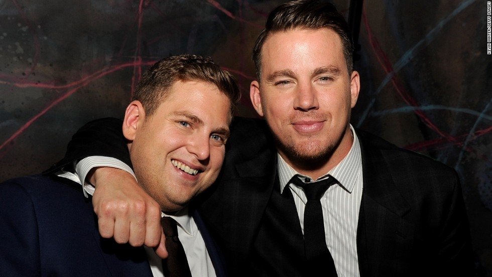 "Photo of Jonah Hill & his friend actor  Channing Tatum - Movie ""21 Jump Street"""