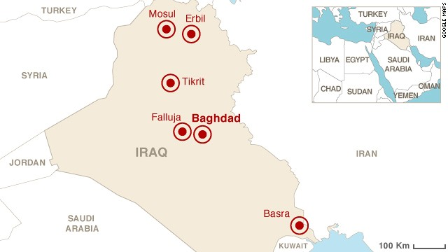 'Map: Unrest in Iraq' from the web at 'http://i2.cdn.turner.com/cnnnext/dam/assets/140611174210-iraq-unrest-map-story-top.jpg'